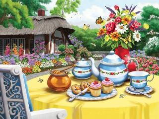 Собирать пазл Чай с медом онлайн