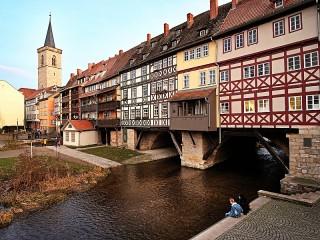 Собирать пазл Чандлер мост Эрфурт онлайн