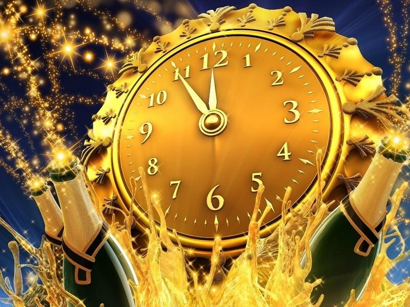Пазл Собирать пазлы онлайн - Новогодние часы