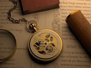 Собирать пазл Часы на книге онлайн