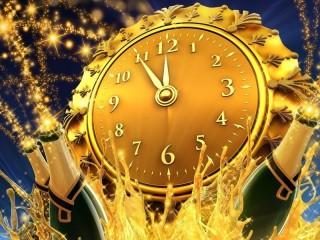 Собирать пазл Новогодние часы онлайн