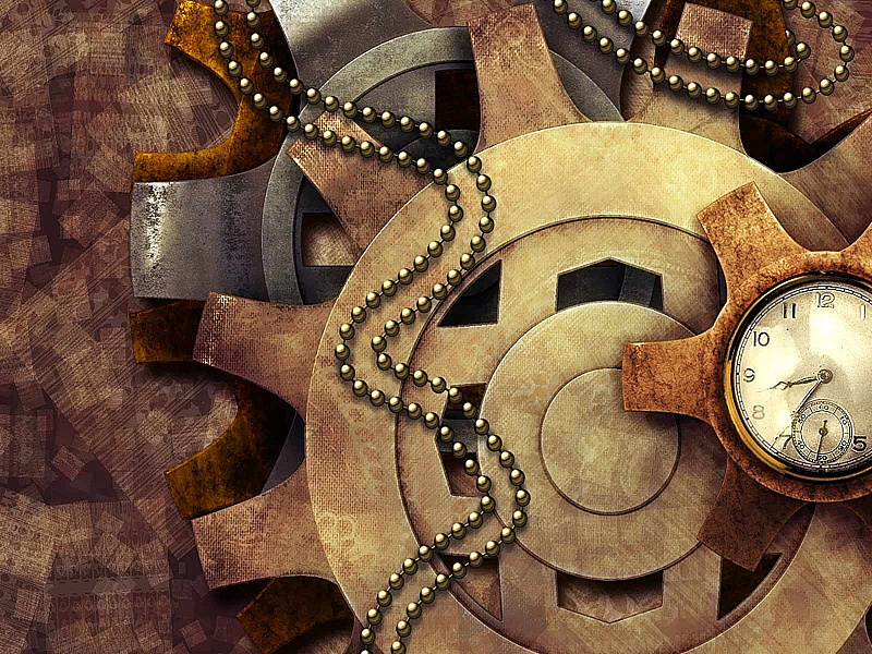 Пазл Собирать пазлы онлайн - Часы шестерёнки