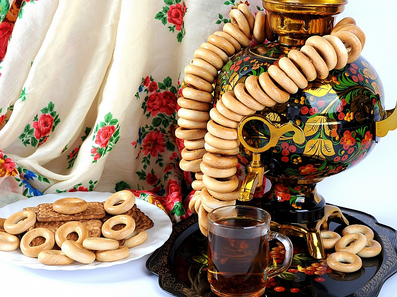 Пазл Собирать пазлы онлайн - Чай и баранки