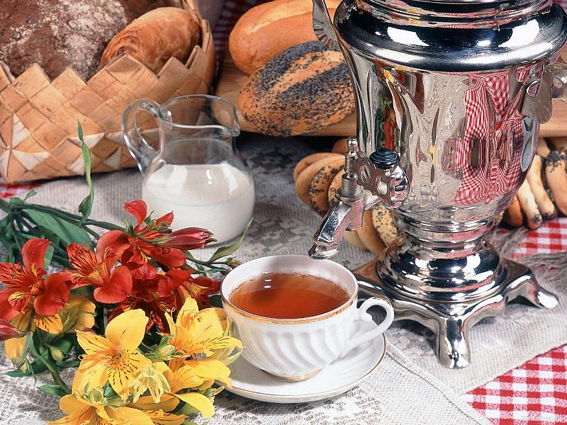 Пазл Собирать пазлы онлайн - Чай из самовара