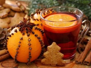 Собирать пазл Чай с апельсином онлайн