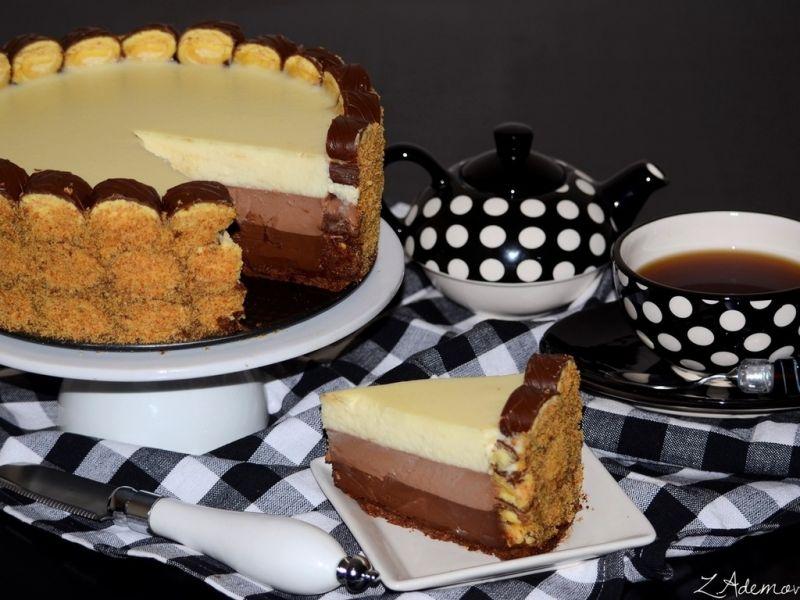 Пазл Собирать пазлы онлайн - Чай с тортиком