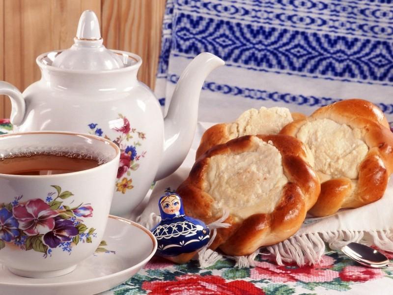 Пазл Собирать пазлы онлайн - Чай с ватрушками