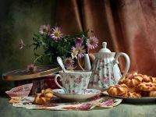Собирать пазл Чайный натюрморт онлайн