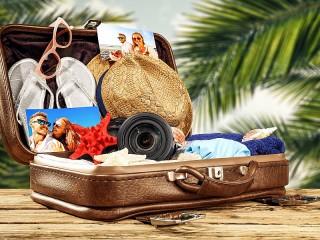 Собирать пазл Чемодан для отпуска онлайн
