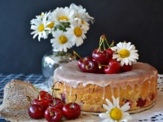 Собирать пазл Вишнёвый пирог онлайн