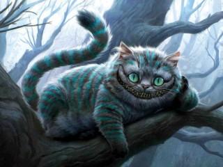 Собирать пазл Чеширский кот онлайн