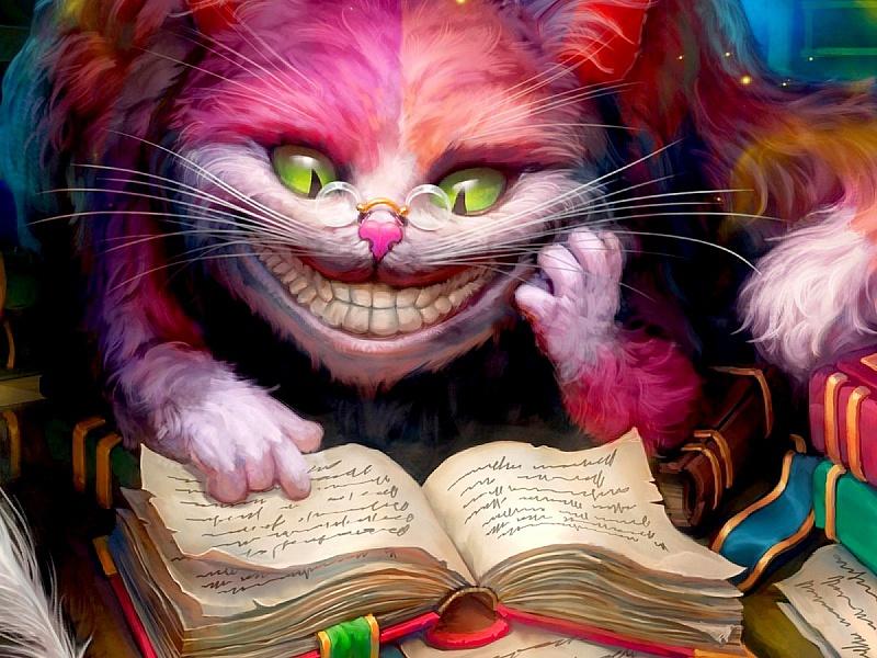 Пазл Собирать пазлы онлайн - Чеширский кот