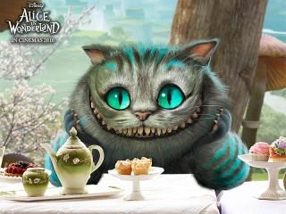 Собирать пазл Чеширский котик онлайн