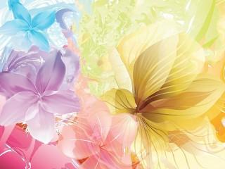 Собирать пазл Четыре цветка онлайн