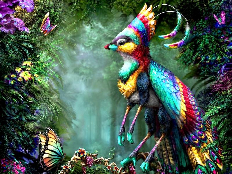 Пазл Собирать пазлы онлайн - Чудо-птица