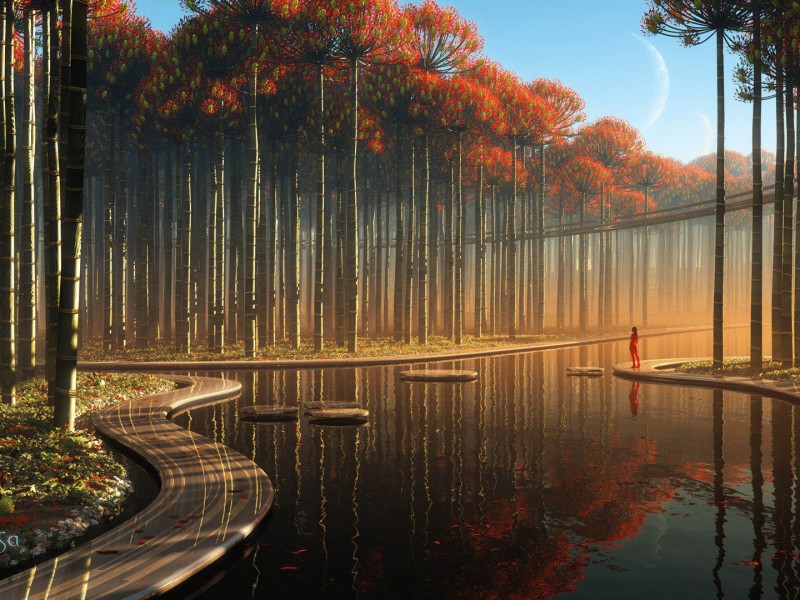 Пазл Собирать пазлы онлайн - Чужепланетный лес