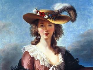 Собирать пазл Дама в шляпе онлайн