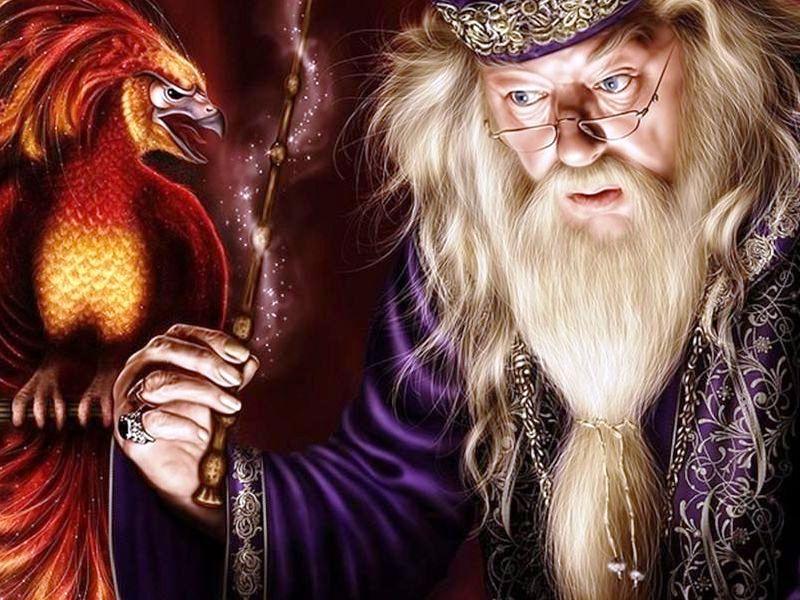 Пазл Собирать пазлы онлайн - Дамблдор и феникс