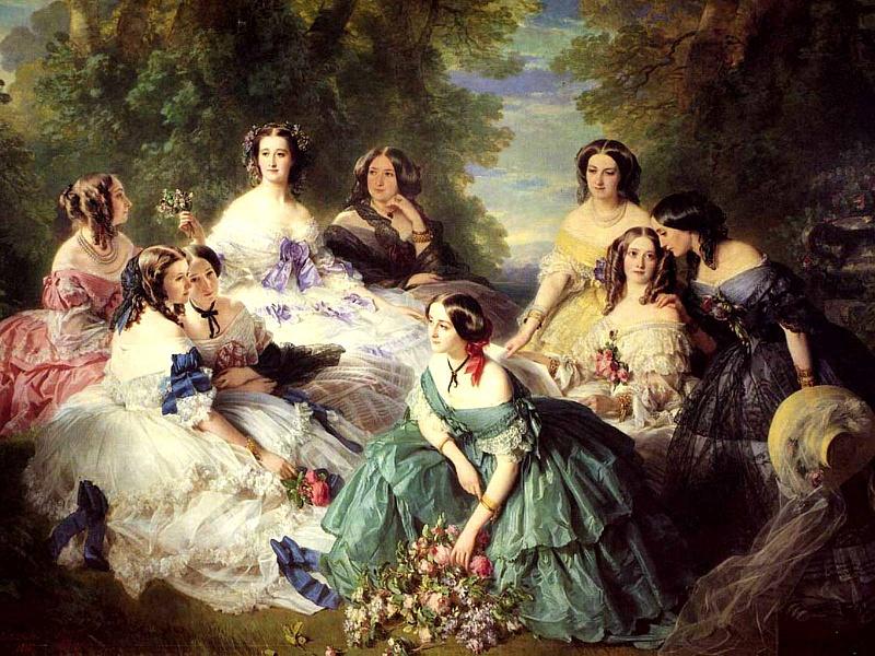Пазл Собирать пазлы онлайн - дамы 19-го века