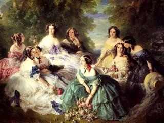 Собирать пазл дамы 19-го века онлайн