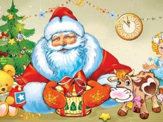 Собирать пазл Дед Мороз  онлайн