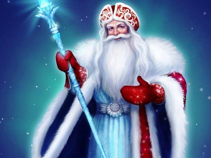 Пазл Собирать пазлы онлайн - Дед Мороз