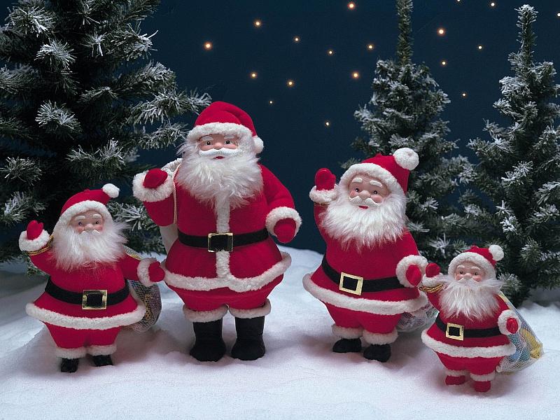 Пазл Собирать пазлы онлайн - Деды Морозы