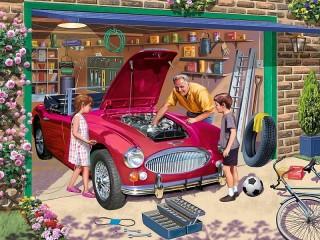 Собирать пазл Дедушкин гараж онлайн