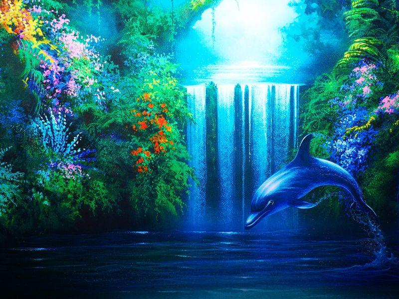 Пазл Собирать пазлы онлайн - Дельфин