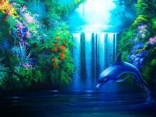 Собирать пазл Дельфин онлайн