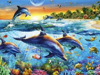 Собирать пазл Дельфины 4 онлайн