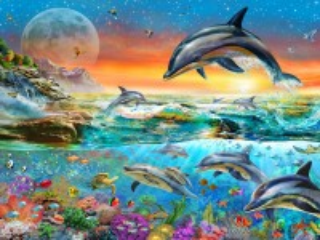 Собирать пазл Дельфины онлайн