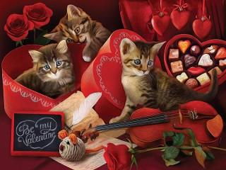 Собирать пазл День Валентина онлайн