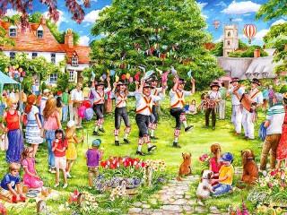 Собирать пазл Деревенские танцы онлайн