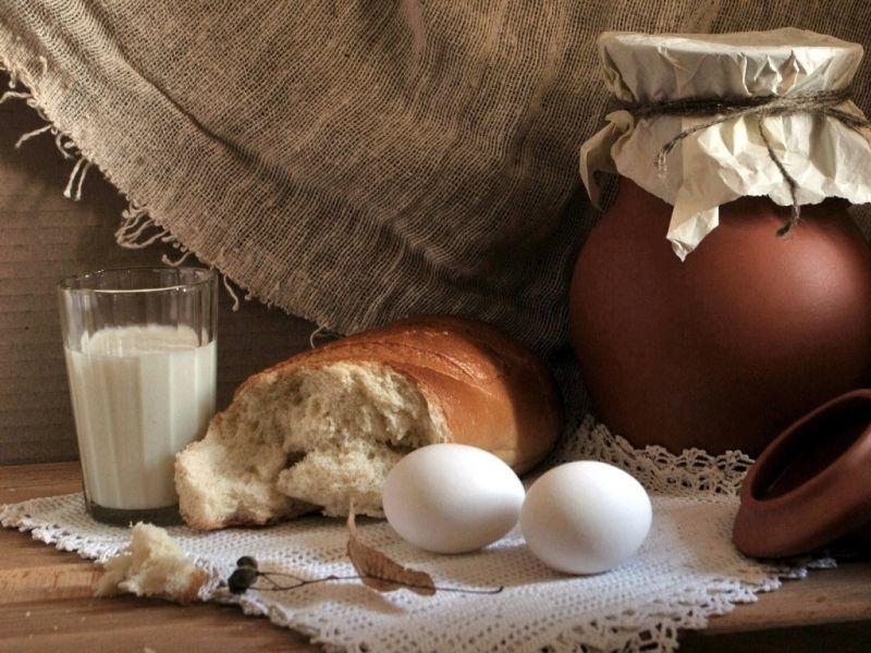 Пазл Собирать пазлы онлайн - Деревенский завтрак