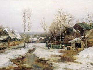 Собирать пазл Деревня в Петербурге онлайн