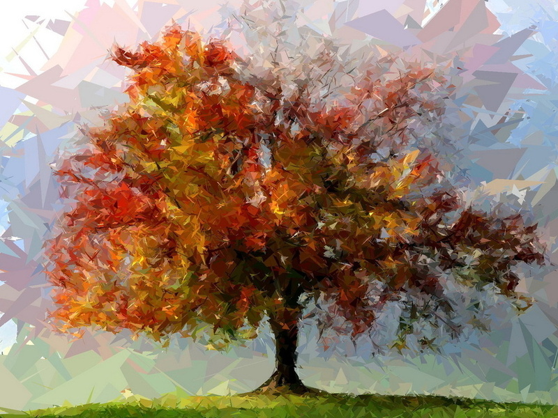 Пазл Собирать пазлы онлайн - Дерево одинокое