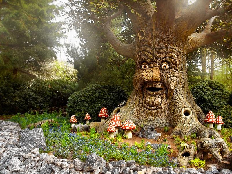 Пазл Собирать пазлы онлайн - Дерево Сказок