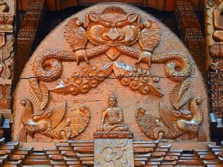 Собирать пазл Деревянная пагода онлайн