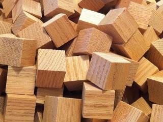 Собирать пазл Деревянные кубики онлайн