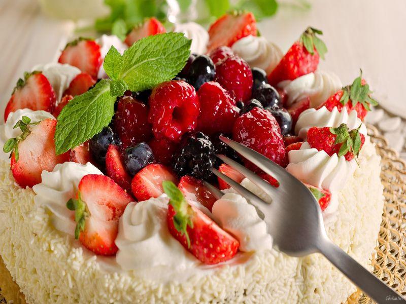 Пазл Десерт с ягодами