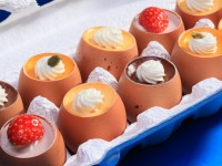 Собирать пазл Десерт в скорлупе онлайн