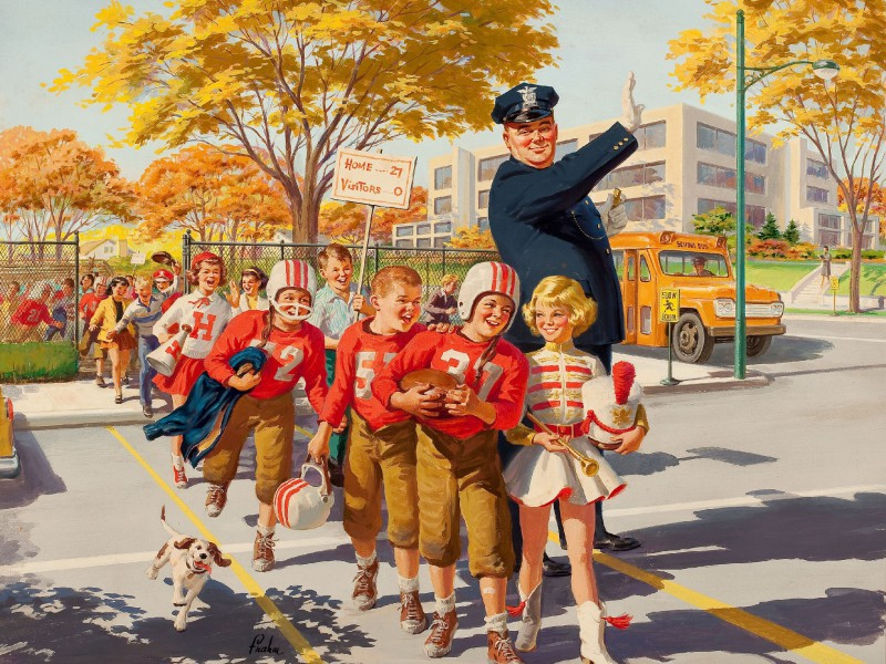 Пазл Собирать пазлы онлайн - Дети на дороге