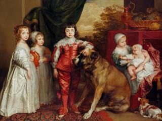 Собирать пазл Дети с собакой онлайн