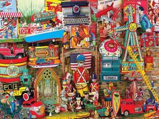 Собирать пазл Детские игрушки онлайн