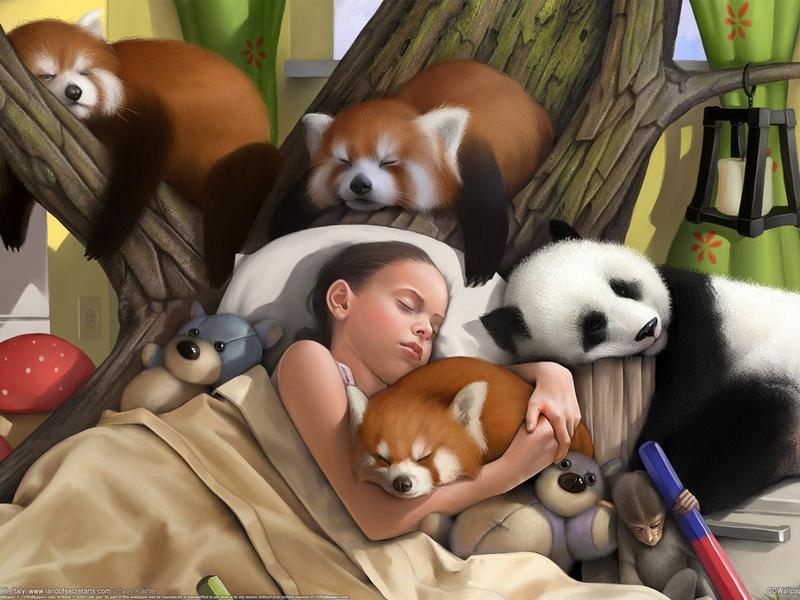 Пазл Собирать пазлы онлайн - Детский сон
