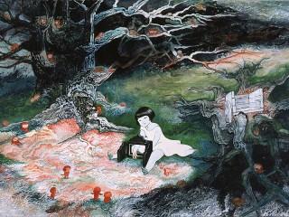 Собирать пазл Девочка в лесу онлайн