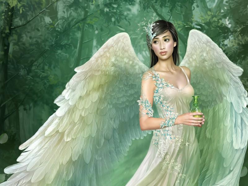 Пазл Собирать пазлы онлайн - Девушка-ангел