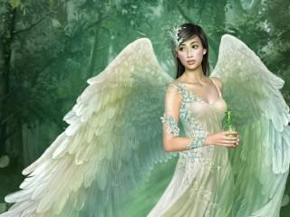 Собирать пазл Девушка-ангел онлайн