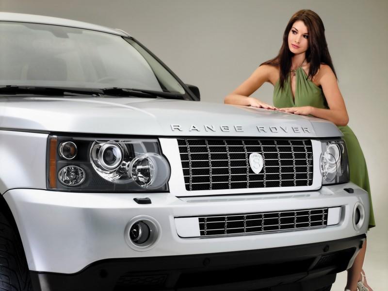 Пазл Собирать пазлы онлайн - Девушка и авто